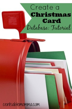 Create Your Own Christmas Card Database: Tutorial - Centsable Momma