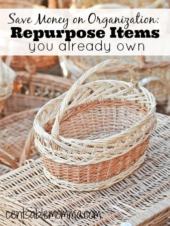 Rather than spend money on a whole new organization system, save money by repurposing items you already have with these tips.