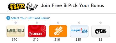 Ebates Bonus Gift Card