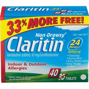 graphic about Claritin Printable Coupon named Printable Coupon: $5/1 Claritin Non-Drowsy Allergy + Walmart