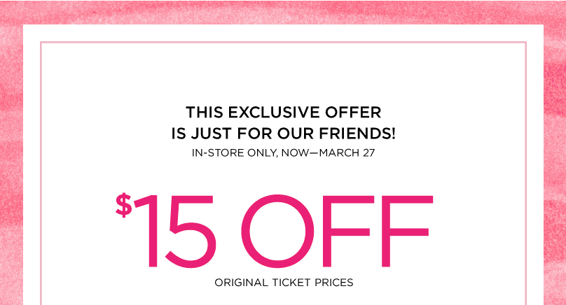picture relating to The Limited Printable Coupon identified as The Restricted: $15 off a $15 Acquire Printable Coupon