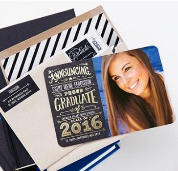 Tiny Prints: 10 FREE Graduation Announcements