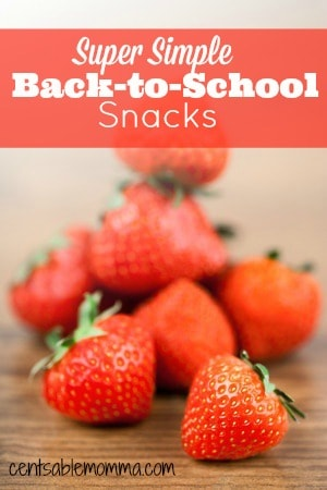Super Simple Back-to-School Snacks
