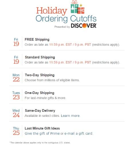 Amazon: Shipping Deadlines & Gift Cards - Centsable Momma