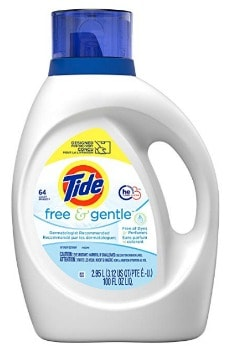 Tide Free & Gentle HE Laundry Detergent (100 oz.): $8.97