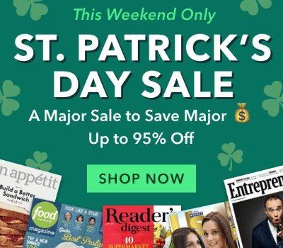 St. Patrick's Day Magazine Sale