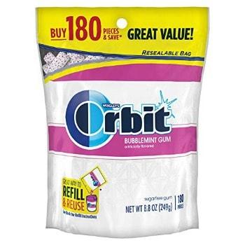 Orbit Sugarfree Bubblemint Gum (180 ct.): $5.01 + FREE Shipping