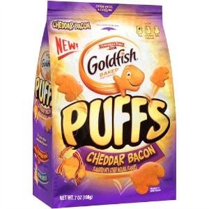 image relating to Goldfish Printable Coupons referred to as Printable Coupon: $0.50 off Goldfish Puffs + Walmart Offer