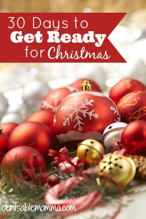 Make this year the year that you're ready for Christmas early. Join me as we spend 30 days getting ready for Christmas, with one task per day so we can relax during the holidays.