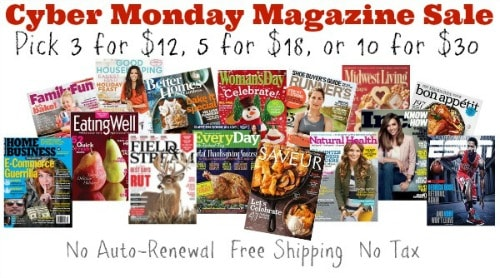 Cyber Monday Magazine Deals {as low as $3 for a Magazine Subscription}