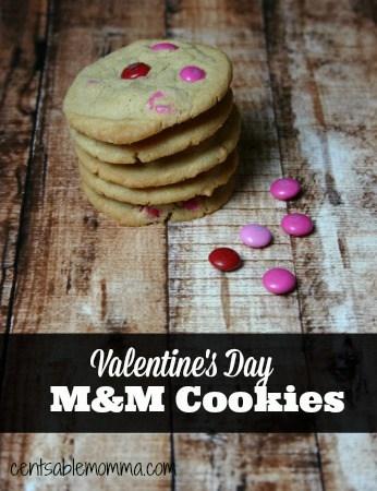 Valentine's Day M&M Cookies: Recipe