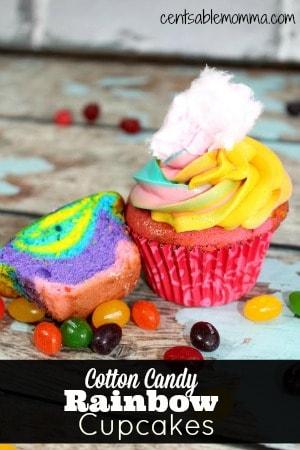Cotton-Candy-Rainbow-Cupcakes