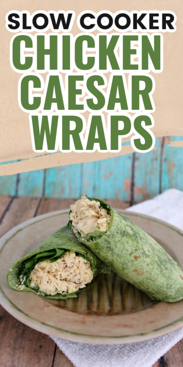 chicken caesar wraps on a plate