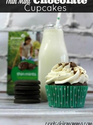 Thin Mint Chocolate Cupcakes Recipe
