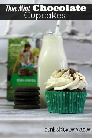 Learn how to make these fun Thin Mint Chocolate Cupcakes from scratch!
