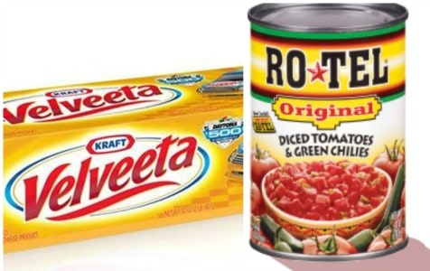 graphic about Velveeta Printable Coupon named Printable Coupon: $2 off Velveeta and Ro-Tel + Walmart Package