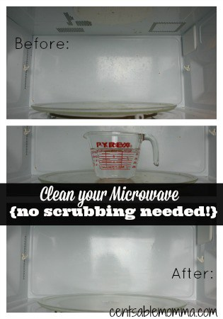 Easily clean your microwave in just minutes - no scrubbing needed!