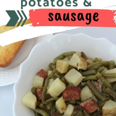 Slow Cooker Green Beans, Potatoes, and Sausage Recipe
