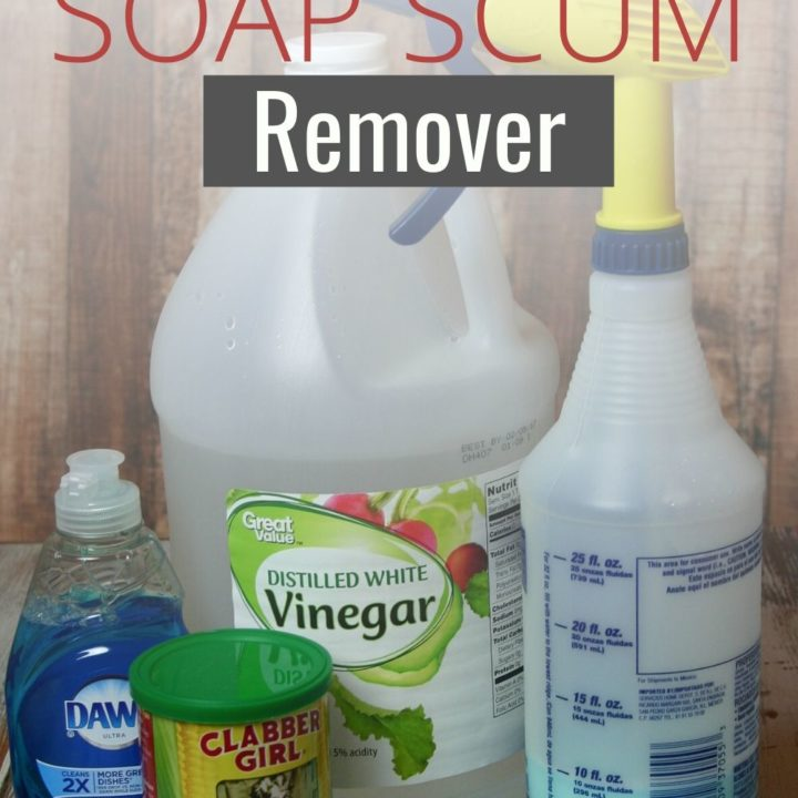 DIY Bathroom Soap Scum Remover