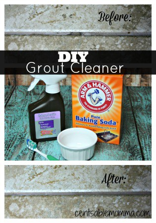 Have dirty grout, but don't want to use harsh chemicals? Try out this DIY Grout Cleaner with products you probably already have!