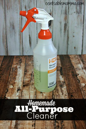 Make your own DIY All-purpose Cleaner with just a few ingredients for way less than buying toxic cleaners.
