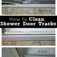 How to Clean Your Shower Door Tracks