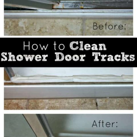 How to Clean Your Shower Door Tracks