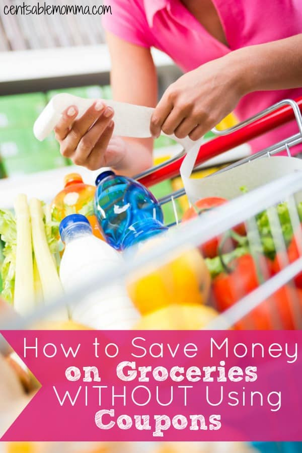 Groceries can be a large monthly expense in your budget, but it's also one of the most flexible expenses too. Check out these trick for how to save money on groceries without using coupons if you're too busy to use coupons (or simply don't feel like it).