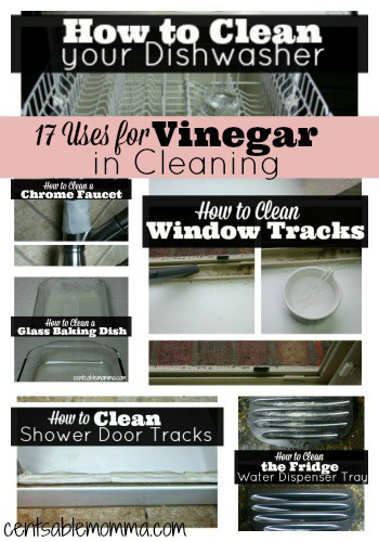 Check out 17 ways to use vinegar as part of your cleaning routine.  It really works wonders to get things squeaky clean!