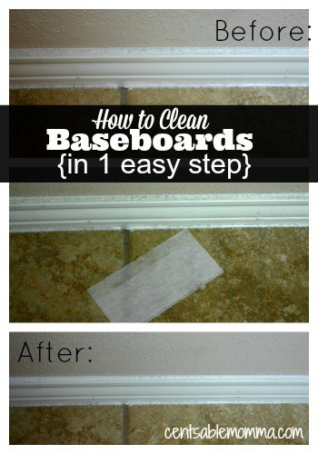 Just 1 product and 1 step is needed to easily clean your baseboards.