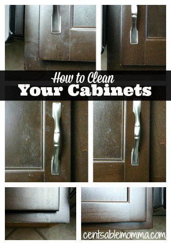 Using just a few household ingredients, you can take your cabinets from dirty to shiny!