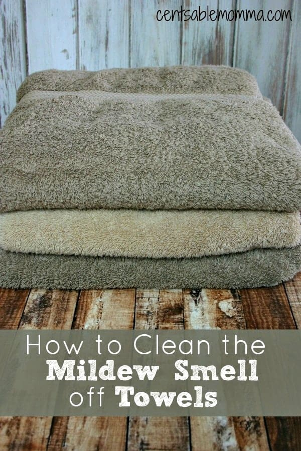 Do you have sour smelling mildewy towels? Use this easy trick to get them smelling fresh again.
