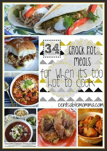 For those days when it's just too hot to turn on the oven, you can try these 34 Crockpot Meals.