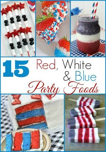 If you're looking for some patriotic party foods that will be the talk of the party, check out these 15 different recipes.