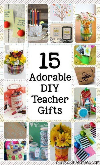 Need some teacher gift ideas for the holidays, End-of-the-School-Year or Teacher Appreciation? Check out these 15 DIY Teacher Gifts for some cute and easy ideas.