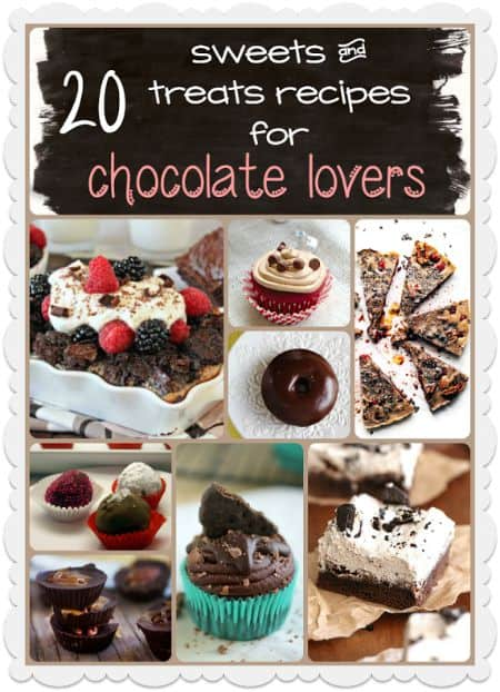 If you love chocolate, you'll want to try these 20 Sweets and Treats Recipes for Chocolate Lovers.
