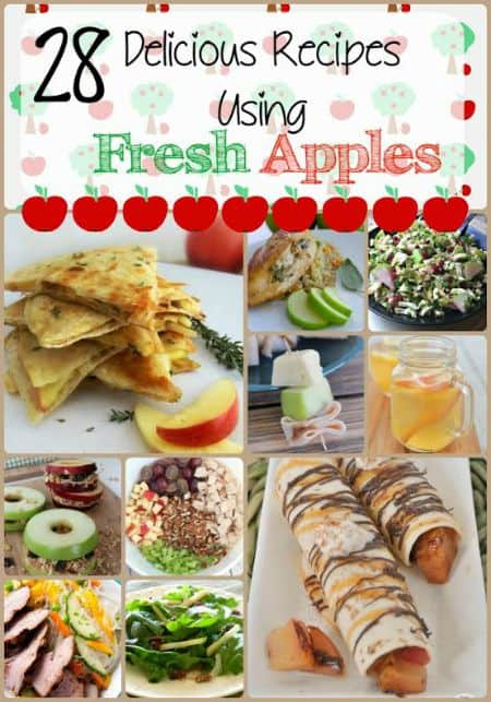 Fresh apples are plentiful in the fall.  If you're looking for recipes to use for your fresh apples, check out these 28 Delicious Recipes using Fresh Apples for some yummy ideas.