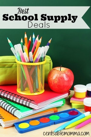 To get the best deals on Back-to-School supplies, be sure to check out the best of the Back-to-School supply sales going on each week through the start of school.