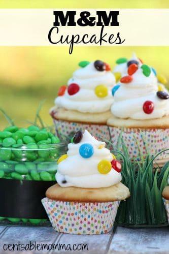M&M-Cupcakes