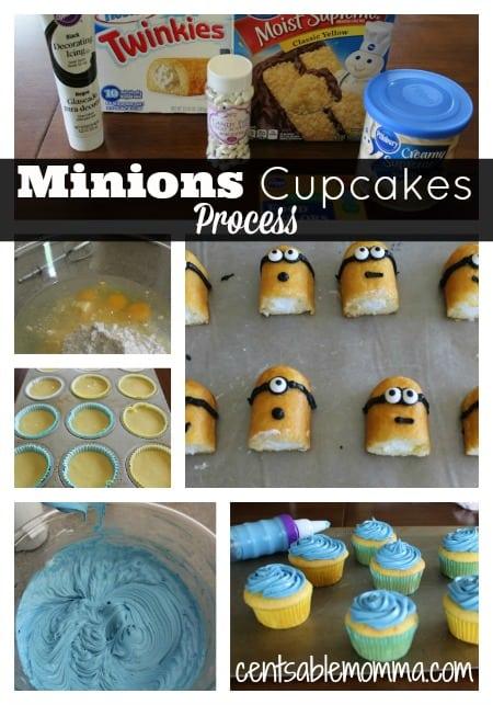 Minions-Cupcakes-Process