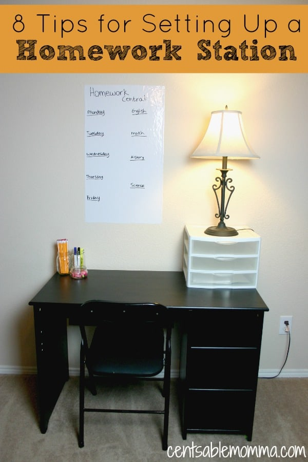 To help your child be successful with homework this year, try to set up a homework station. You'll want to make sure you include these 8 principles.