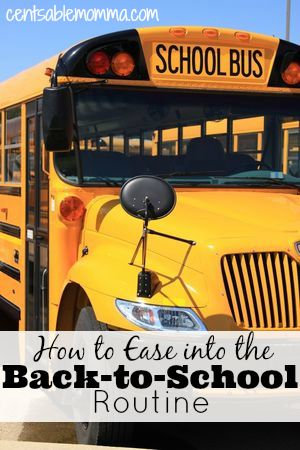 Check out these 8 tips for how to ease into the Back-to-School routine to make the transition from summer to school an easier one.