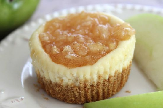 Get into the spirit of the apple season with this Mini Apple Cheesecakes recipe.