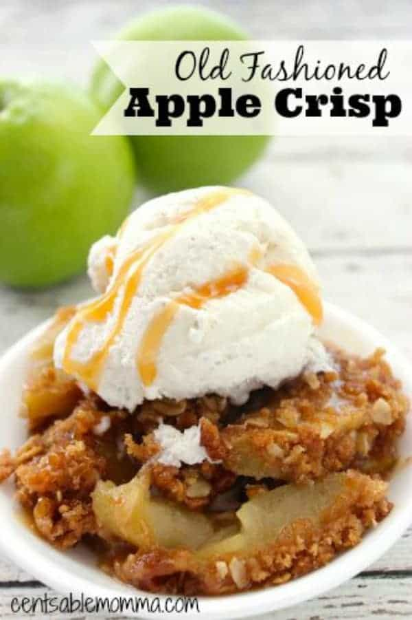 It's fall and apple picking season, which means fresh apples for recipes like this Old Fashioned Apple Crisp with oatmeal - so delicious and crunchy!