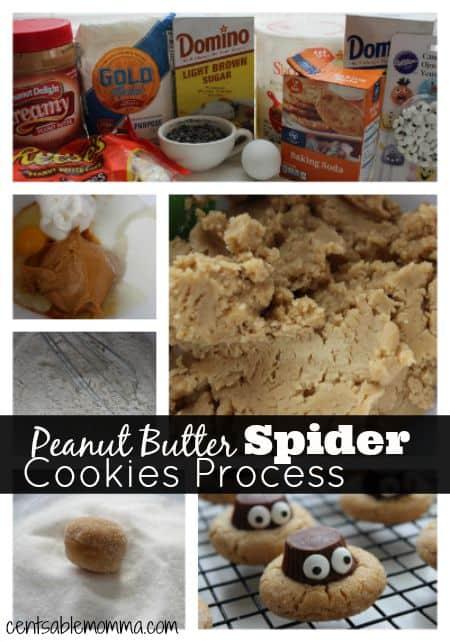 Peanut-Butter-Spider-Cookies-Process