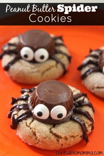 These peanut butter spider cookies are perfect to make with the kids for Halloween or to serve at your Halloween party. Can't beat the combo of peanut butter and chocolate!