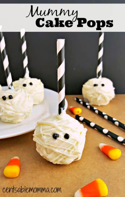 You and the kids can make these fun Mummy Cake Pops - perfect for a Halloween treat