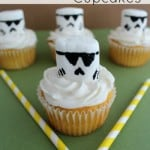 Easily make these Star Wars Storm Troopers cupcakes for your Star Wars fan.