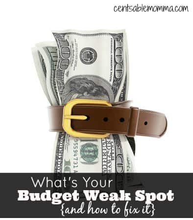 Do you have a hard time balancing your budget each month?  Find out your budget weak spot and how to fix it.