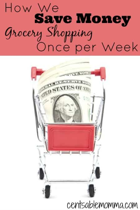 Want to lower your grocery bill without a whole lot of effort?  Find out how we save money just by grocery shopping only once per week.